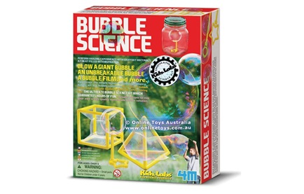 A bubble science kit box
