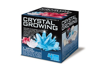 A crystal growing kit box