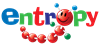 Colourful Entropy logo with a toy caterpillar whose head forms the 'o' in 'Entropy'