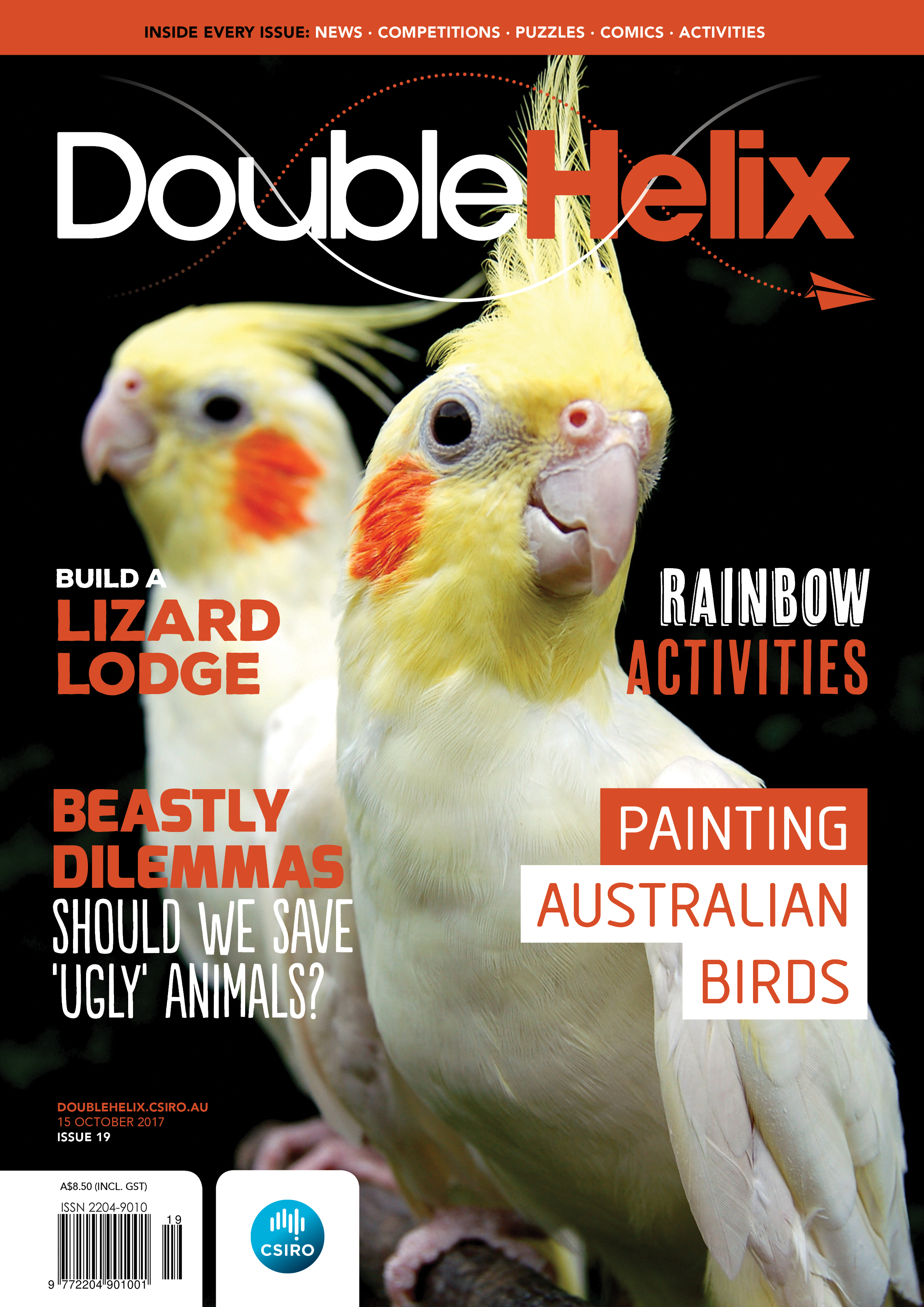 Double Helix Issue 19 cover with yellow birds