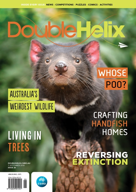 Double Helix cover with Tasmanian devil